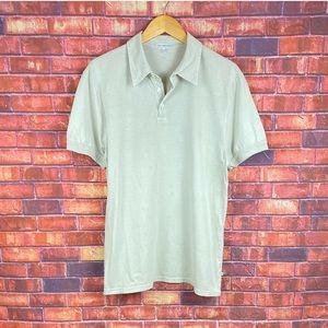 standard JAMES PERSE Mens Light Brown Short Sleeve